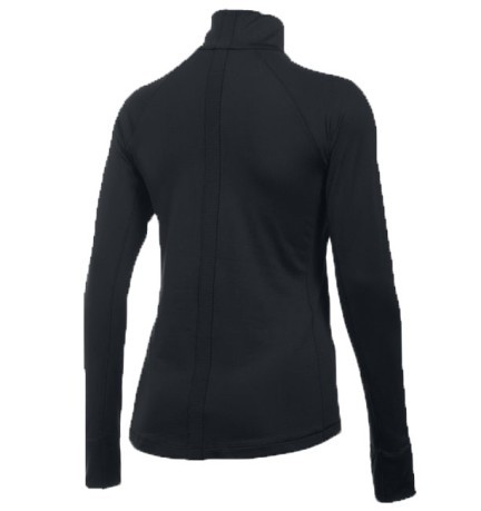 T-Shirt Women's ColdGear Basic Half Zip black
