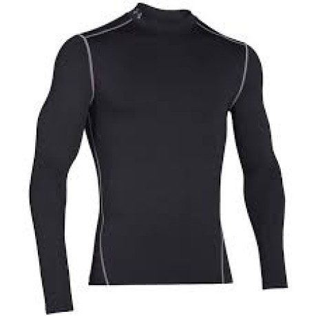T-Shirt Uomo ColdGear Compression Mock nero
