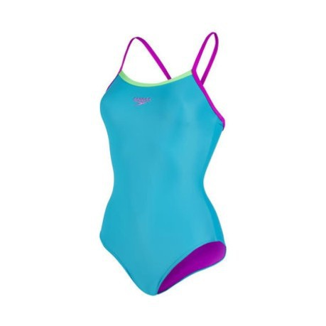 Costume Donna Thinstrap Muscleback azzurro