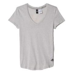 T-Shirt Donna Logo V grigio