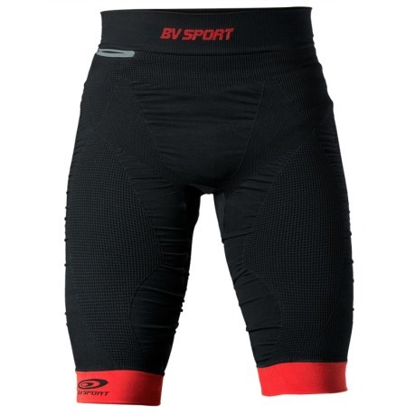 Short Uomo Quad Compression nero arancio