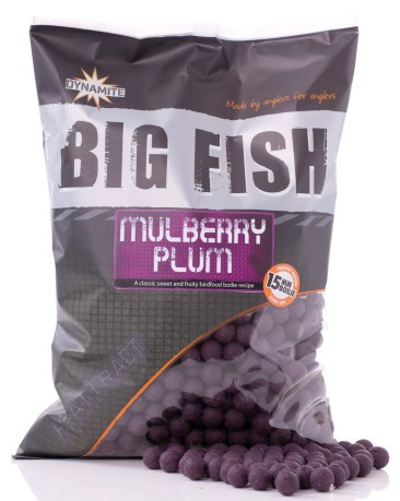 mulberry plum  Boilies Hi-Attract Mulberry Plum 15 mm - Dynamite Baits -