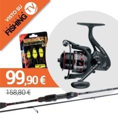 Combo Italian Fishing TV Trout Area 5,6 piedi canna e mulinello