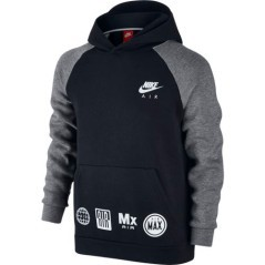 Felpa Cappuccio Junior SportWear nero grigio