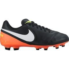 Nike Tiempo jr nere/arancio 1
