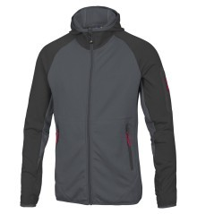 Pile Uomo Assimetric Hoody Full Zip nero