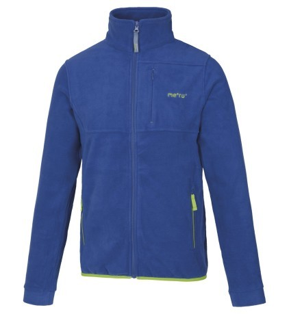 Pile Uomo LethBridge Full Zip blu