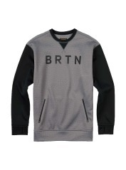 Men's sweatshirt Bonded Crew grey black