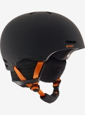 Snowboarding helmet Man Rider black orange