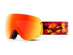 Maschera Snowboard Open Magma The One  rosso rosso