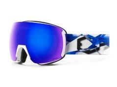 Maschera Snowboard Earth Artic bianco blu