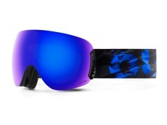 Maschera Snowboard Open Abyss The One nero blu