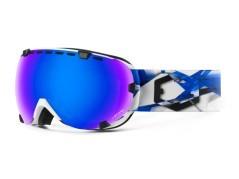 Maschera Snowboard Eyes Artic bianco blu