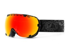 Maschera Snowboard Eyes NightSession nero rosso