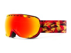 Maschera Snowboard Eyes Magma rosso rosso