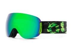 Maschera Snowboard Open Absinthe nero verde