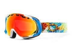 Maschera Snowboard Edge Funky bianco azzurro