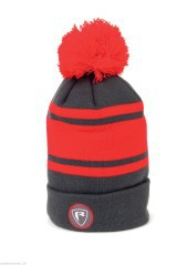 Cappello Rage Red / Grey Bobble Hat