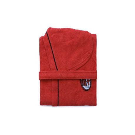 61df1588be Bathrobe Baby Microspugna Milan colore Red Black - Novia - SportIT.com