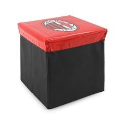 Pouf Contenitore Milan rosso nero