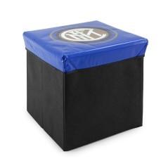 Pouf Contenitore Inter nero azzurro