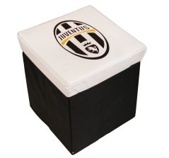 Pouf Contenitore Juventus nero bianco