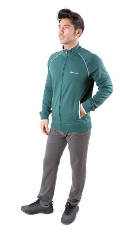 Tuta Uomo Interlock Full Zip verde blu