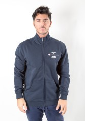 Felpa Uomo East 1919 Full Zip blu