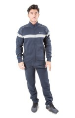 Trainingsanzug Herren Herbst Fleece rot blau