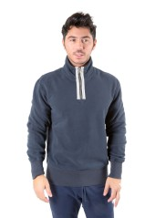 Felpa Uomo Athletic Mezza Zip blu