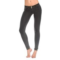 Pantalone Jeans Donna Wrup Delave grigio