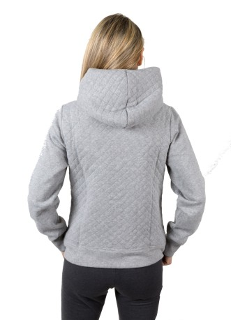 Felpa Bambina Authentic Full Zip grigio