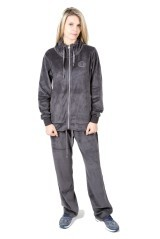 Tuta Donna Velour Full Zip grigio grigio