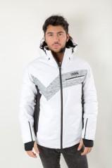 Giacca Uomo Alpine 9QS Ecostre bianco grigio