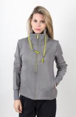 Felpa Donna Heritage Full Zip grigio