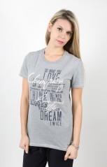 T-Shirt Donna Heritage Revolution Stampa grigio