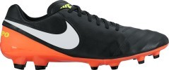 Scarpe Calcio Tiempo Genio Leather II FG nero arancio