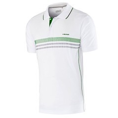 Polo Junior Club Tech bianco verde