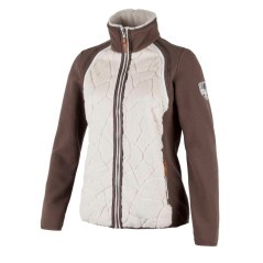 Pile Donna Medium Fleece marrone bianco