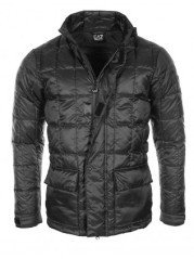 Daunenjacke Herren Mountain Quilted Down schwarz