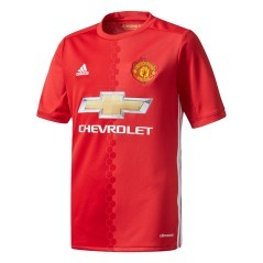 Maillot Junior Manchester United FC à Domicile 16/17 rouge PROFIL