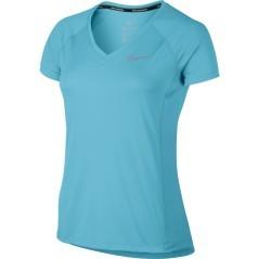 T-shirt Donna Miler V-Neck azzurro