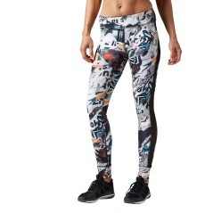 Leggins Donna Garden Rebel nero fantasia