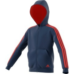 Felpa Junior Essential 3 Stripes Full Zip blu rosso