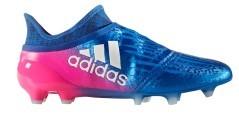 Scarpe Calcio X 16+ Purchaos FG blu rosa