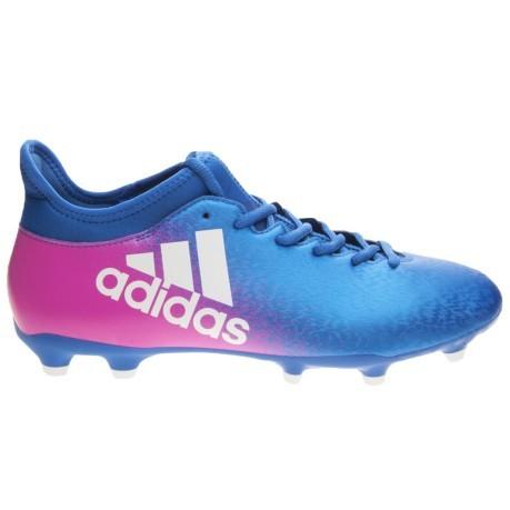 Chaussures de Football Adidas X 16,3 FG Bleu Blast Pack