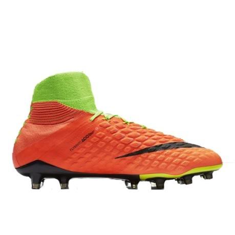 Las botas de fútbol Nike Hypervenom Phantom III FG naranja verde 1 14a378490e8