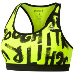 Top Donna Running Essentials Printed giallo