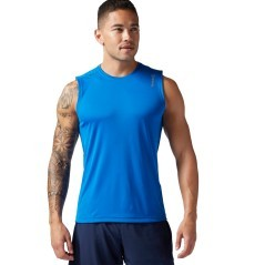 Canotta Uomo Running Essentials blu