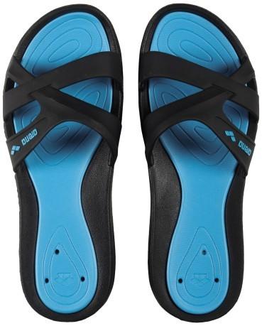 Ciabatte da piscina donna athena colore nero azzurro arena - Arena ciabatte piscina ...